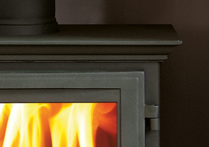 Chesneys Beaumont 8 series multi-fuel stove in Sage Green