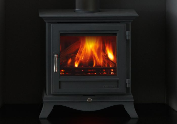 Chesneys Beaumont 5WS series wood burning stove in black anthracite