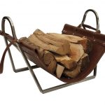 The Broughton Log Holder, Steel – The Fireplace Company, Crowborough