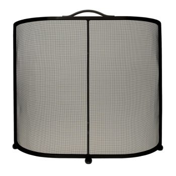 Chesneys Lombard fire screen in coated black steel