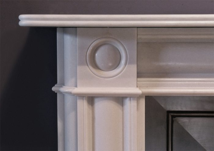 The Marble Regency Bullseye Fireplace – The Fireplace Company, Crowborough, 2