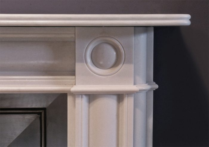 The Marble Regency Bullseye Fireplace – The Fireplace Company, Crowborough, 3