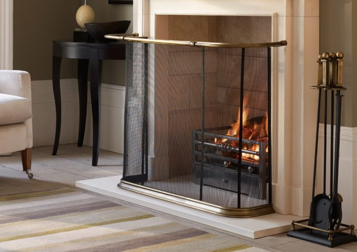 The Penrose Fire Screen, Deluxe - The Fireplace Company, Crowborough