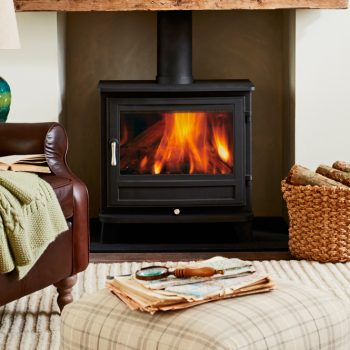 Chesneys Salisbury 12 series wood burning stove in Black Anthracite