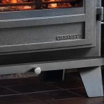 Chesneys Salisbury 8 series multi-fuel stove in Black Anthracite