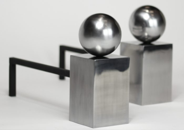Chesneys Spherical Steel fire dogs