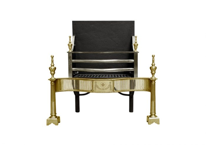 Chesneys Syon fire basket in brass