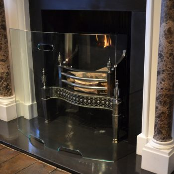 Chesneys Curved Glass fire screen