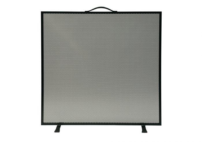 Chesneys Farringdon fire screen in coated black steel