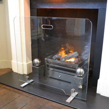 Chesneys Flat Glass fire screen