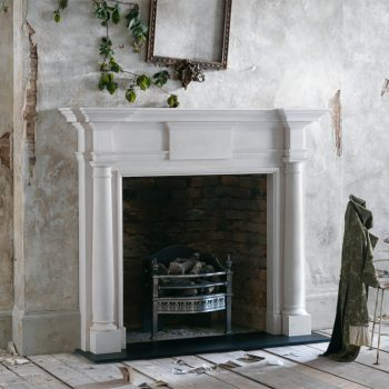Chesneys Chambers fireplace with the Stanhope fire basket in steel