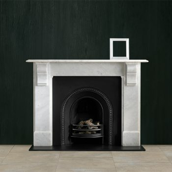 Chesneys Edwardian Corbel fireplace with the Britton No. 1 Arched register grate