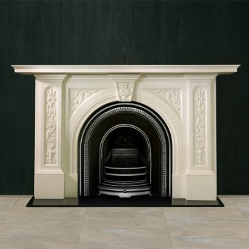 Chesneys Holland fireplace with the Britton No. 3 Arched register grate