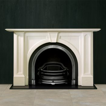 Chesneys Ladbroke fireplace with the Ornate Arched register grate