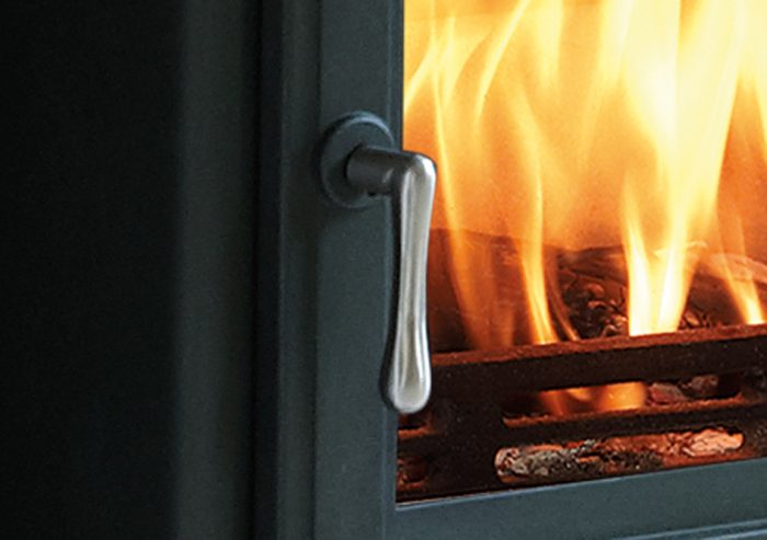 Chesneys Belgravia 6 series multi-fuel stove in Sage Green