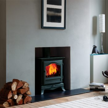 Chesneys Belgravia 8 series multi-fuel stove in Black Anthracite