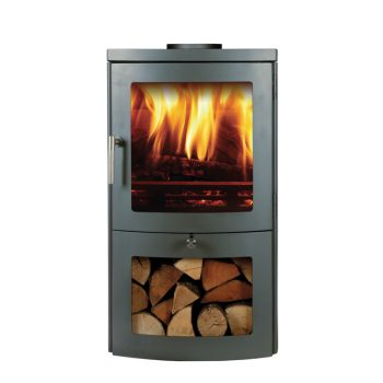 Chesneys Milan 4 series wood burning stove in Silver