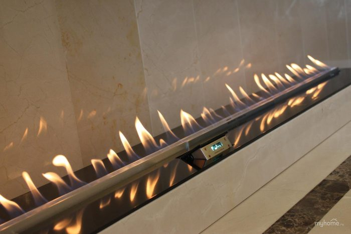 Decoflame Bioethanol Fire Denver F E-Ribbon Fire Detail 2