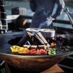 Ofyr cooking vegetables hotplate