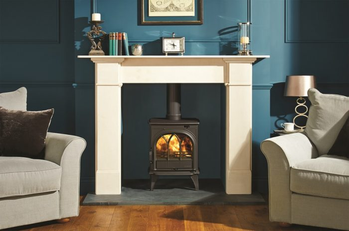 Stovax & Gazco Huntingdon 25 wood burning stove with tracery door