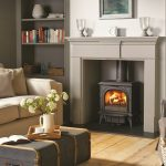 Stovax & Gazco Huntingdon 30 wood burning stove in matt black with clear door