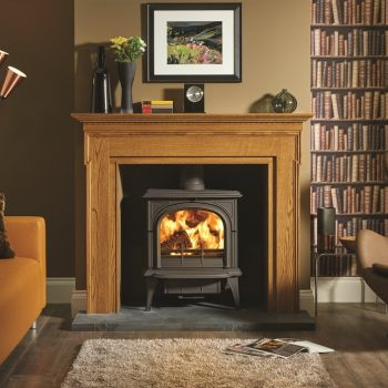 Stovax & Gazco Huntingdon 40 wood burning stove with clear door