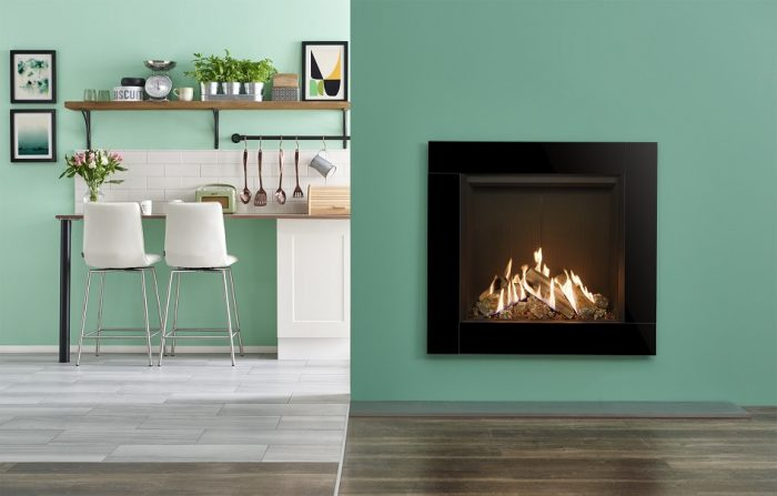 Stovax & Gazco Reflex 75T Icon XS gas fire with black reeded lining