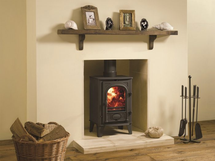 Stovax & Gazco Stockton 4 wood burning stove in matt black