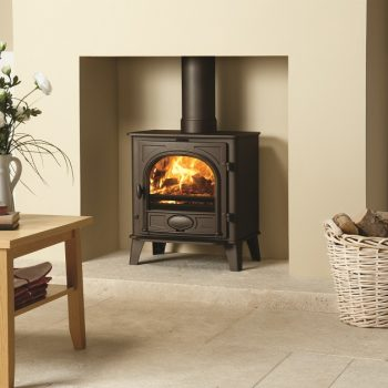 Stovax & Gazco Stockton 7 wood burning stove in matt black