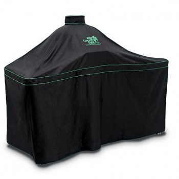Big Green Egg Cover Embroidered Cover for Large Egg in a 3 Wide Slat Hardwood Table
