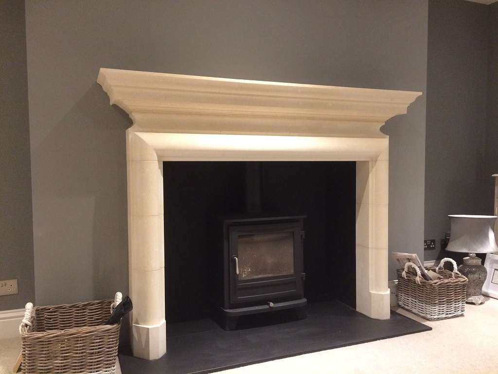 Chesneys Sterling fireplace and Salisbury 8 wood burning stove, Crowborough, East Sussex 1024