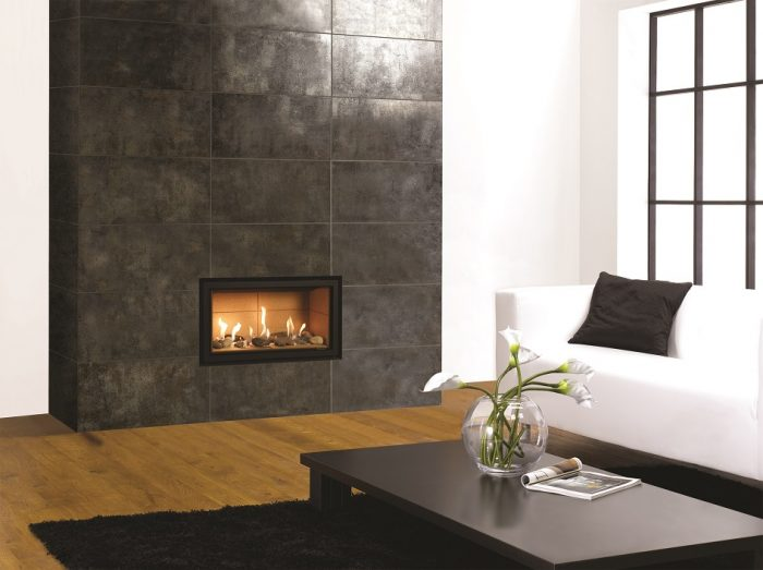 Stovax Gazco Studio 1 gas fire Edge conventional flue 945