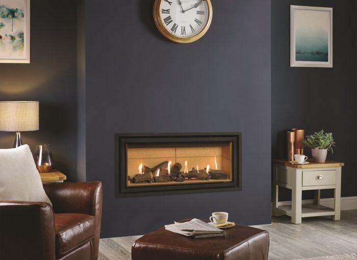 Stovax Gazco Studio 2 gas fire conventional flue Edge + 945