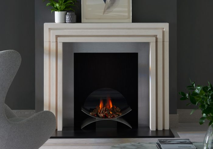 Chesneys Beckett fireplace by Kelly Hoppen with the Depp fire basket