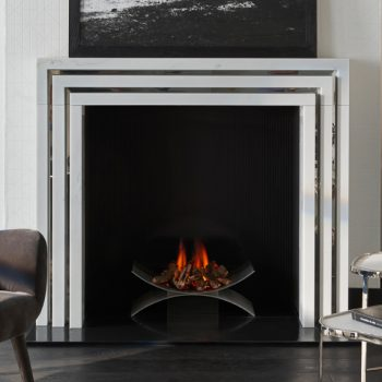 Chesneys Stoppard fireplace by Kelly Hoppen with the Depp fire basket