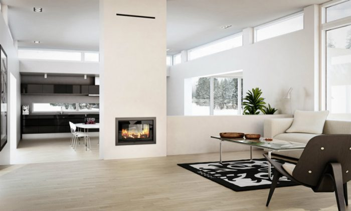 Rais 2:1 interior wood burning stove insert
