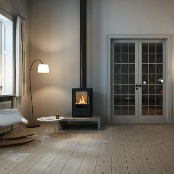 Rais Q Tee 65 interior 1 wood burning stove