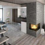 Rais Visio 2 interior wood burning stove insert