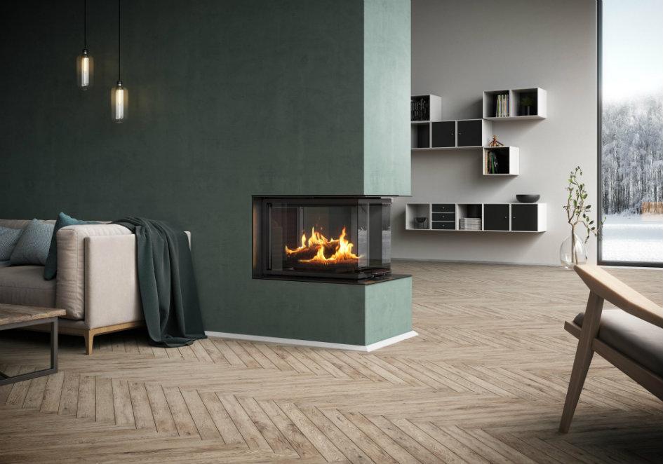 Rais Visio 3:1 interior wood burning stove insert