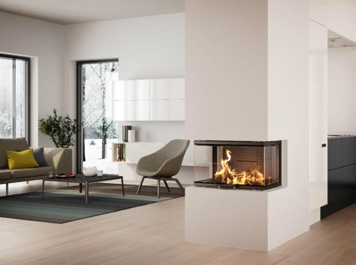Rais Visio 3 interior wood burning stove insert