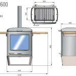Chesneys HEAT Collection BBQ barbeque heater 600 diagram measurements