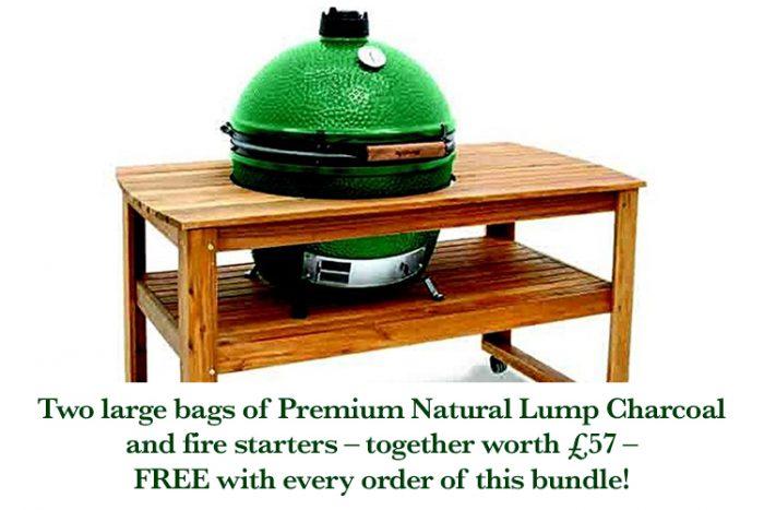Big Green Egg Large with table bundle v5