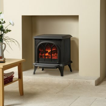 Stovax & Gazco Huntingdon 30 matt black electric stove