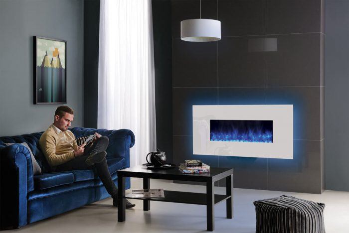 Stovax & Gazco Radiance 80W White Glass electric fire