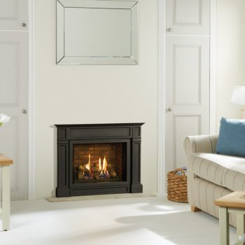 Stovax & Gazco Riva2 500 Ellingham gas fire with brick-effect lining
