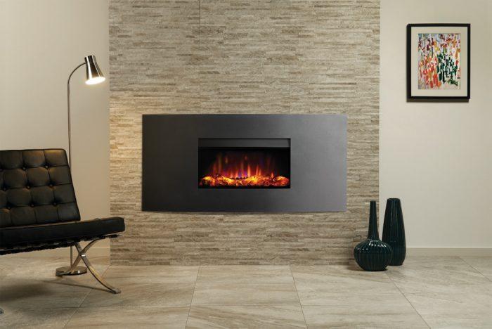 Stovax & Gazco Riva2 670 Verve graphite electric fire