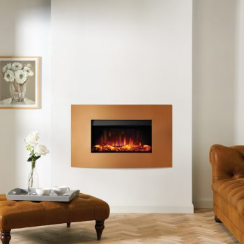 Stovax & Gazco Riva2 670 Verve XS metallic bronze electric fire
