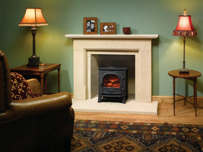 Stovax & Gazco Stockton 5 matt black electric stove
