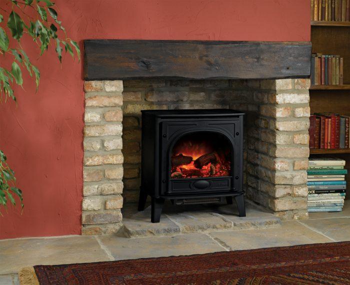 Stovax & Gazco Stockton Medium matt black electric stove