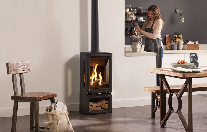 Stovax & Gazco Vogue Midi T Midline gas stove